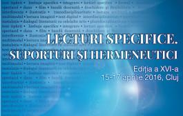2016 - LECTURI SPECIFICE. SUPORTURI ŞI HERMENEUTICI