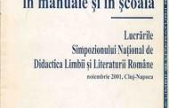 2001 - Literatura în manuale și școală