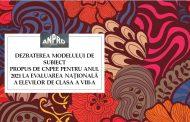În dezbatere. Modelul de subiect la limba și literatura română EN 2021