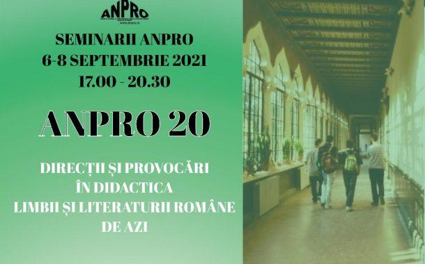 SEMINARELE ANPRO 20. PROGRAM