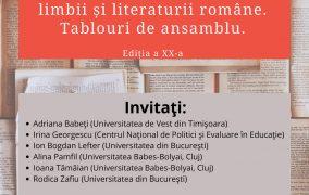 Simpozion 2021. DOUĂ DECENII DE RECONFIGURĂRI ÎN DIDACTICA LIMBII ȘI LITERATURII ROMÂNE. TABLOURI DE ANSAMBLU